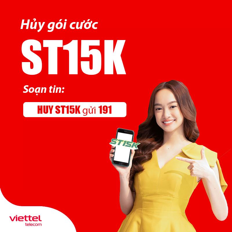 Soạn tin nhắn hủy gói ST15K Viettel dễ dàng