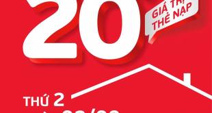 HOT: Viettel tặng 20% giá trị thẻ nạp ngày 02/08/2021