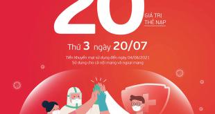 HOT: Viettel tặng 20% giá trị thẻ nạp ngày 20/07/2021