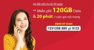 Đăng Ký Gói 12V120N Viettel Miễn phí 4GB/Ngày, Gọi Nội Mạng 1 Năm