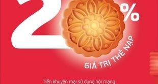 HOT: Viettel tặng 20% giá trị thẻ nạp ngày 20/09/2021